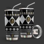 Alohazing 3D Black Mighty Morphin Power Ranger Ugly Christmas Custom Tumbler