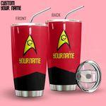 Alohazing 3D Star Trek Red Uniform Patch Personalized Tumbler