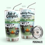 Alohazing 3D Camping Personalized Tumbler Happy Campers