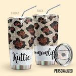 Alohazing 3D Mom Life Leopard Personalized Glitter Tumbler