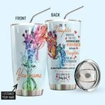 Alohazing 3D Giraffe Mom To Daughter Personalized Tumbler