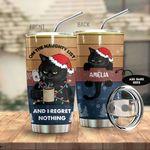 Alohazing 3D Black Cat Christmas Personalized Tumbler