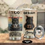 Alohazing 3D Black Cat Shoot People Photography Personalized Tumbler