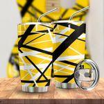 Alohazing 3D Yellow Frankenstrat Strings Custom Tumbler