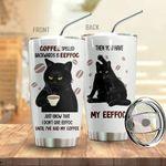 Alohazing 3D Coffee Spelled Backwards Is Eeffoc Tumbler