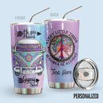 Alohazing 3D Hippie Personalized Tumbler Hippie Heart