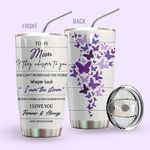 Alohazing 3D To My Mom Personalized Tumbler