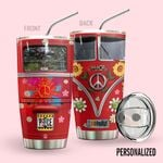 Alohazing 3D Hippie Sunflower Peace Vw Bus Personalized Tumbler