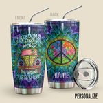 Alohazing 3D Hippie Personalized Tumbler Freedom