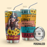 Alohazing 3D Hippie Sunflowers Personalized Tumbler
