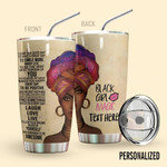 Alohazing 3D Black Girl Magic Personalized Tumbler
