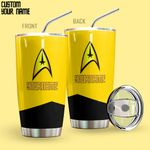 Alohazing 3D Star Trek Gold Uniform Patch Personalized Tumbler