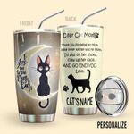 Alohazing 3D Cat Personalized Tumbler Dear Cat Mom