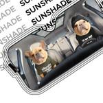 Alohazing 3D Couple Bulldogs Custom Car Auto Sunshade