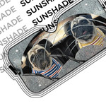 Alohazing 3D Two Cute Pugs Custom Car Auto Sunshade