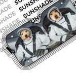 Alohazing 3D Yellow Labrador Retriever SpaceX Custom Car Auto Sunshade