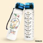 Alohazing 3D Just A Girl Who Loves Goat Personalized Water Tracker Bottle