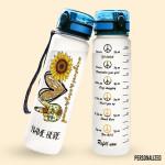 Alohazing 3D Hippie Peace Love Sunshine Personalized Water Tracker Bottle
