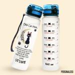 Alohazing 3D Cat Personalized Water Tracker Bottle Dear Mom
