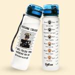 Alohazing 3D Dog Water Tracker Bottle Pug Personal Stalker