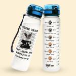Alohazing 3D Dog Water Tracker Bottle French Bulldog Personal Stalker
