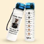 Alohazing 3D Dog Water Tracker Bottle German Shepherd Personal Stalker
