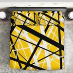 Alohazing 3D Yellow Frankenstrat Strings Custom Bedding Set