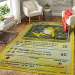 Alohazing 3D Pokemon Raichu Card Custom Rug