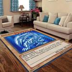 Alohazing 3D Blue Eyes White Dragon Card Custom Rug