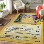 Alohazing 3D Pokemon Pikachu Card Custom Rug
