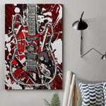 Alohazing 3D Red Frankenstrat Custom Canvas