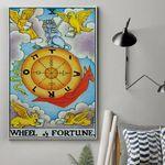 Alohazing 3D The Wheel Of Fortune Card Custom Canvas