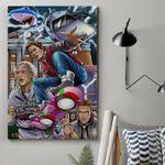 Alohazing 3D Back To The Future Custom Canvas