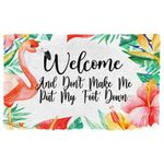 Alohazing 3D Welcome And Don't Make Me Put My Foot Down Doormat