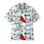 Alohazing 3D Aircraft Pattern Hawaii Shirt