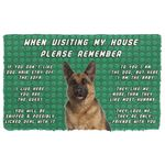 Alohazing 3D Please Remember German Shepherd Dog's House Rules Doormat