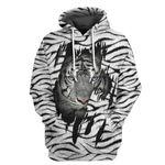 Alohazing 3D White Tiger Tshirt Hoodie Apparel