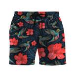 Alohazing 3D Paisley Humming Bird Shorts