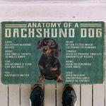 Alohazing 3D Anatomy Of A Dachshund Dog Doormat