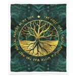 Alohazing 3D Wicca Tree Of Life Blanket