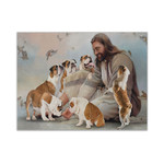 Alohazing 3D God And His Bulldogs Canvas