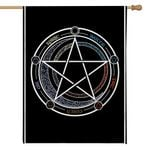 Alohazing 3D Wiccan Witch Flag