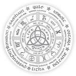 Alohazing 3D Pagan Wheel Of The Year Round Rug