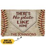 Alohazing 3D There's No Plate Like Home Custom Name Doormat