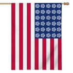 Alohazing 3D American Wicca Pentacle Flag
