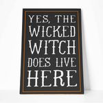 Alohazing 3D Wicked Witch Does Live Here Canvas