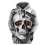 Alohazing 3D Flamable Skull Tshirt Hoodie Apparel