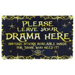 Alohazing 3D Wicca Please Leave Your Drama Here Doormat