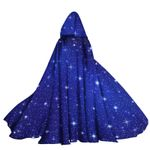 Alohazing 3D Witch Starry Sparkle Hooded Cloak