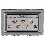 Alohazing 3D PKM Fire Type Trainer Doormat